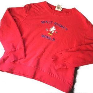 Disney | Vintage 80s Cropped Sweatshirt Size Large